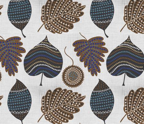 Falling leaves fabric by chulabird on Spoonflower - custom fabric