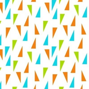 Triangle Confetti - Turquoise Lime Orange