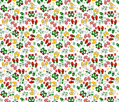 Horsey Mittens fabric by ragan on Spoonflower - custom fabric