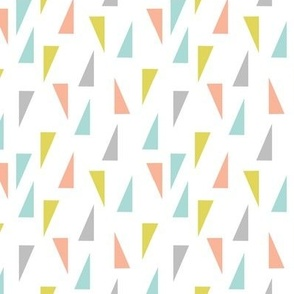 Triangle Confetti - Aqua Pink Yellow Gray