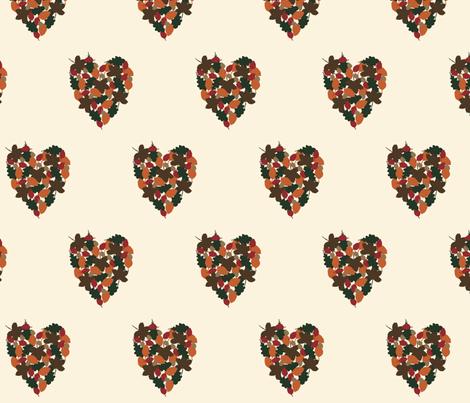 Autumn Love fabric by flossy_fleur on Spoonflower - custom fabric