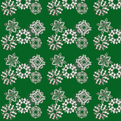 Green Snow Flake