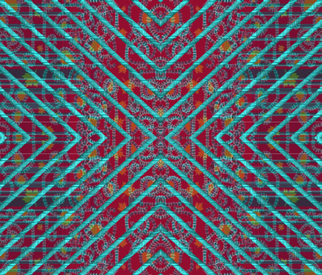 Look Behind the Turquoise Bars fabric by anniedeb on Spoonflower - custom fabric