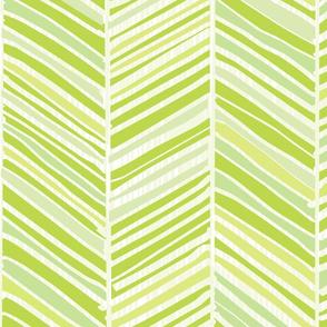 Herringbone Hues of Green by Friztin