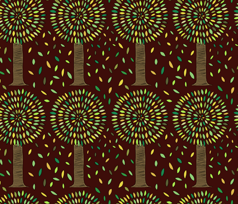 Fall Trees fabric by jeannemcgee on Spoonflower - custom fabric