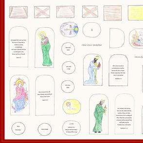 Iconographic Nativity Scene Plush Set Kit
