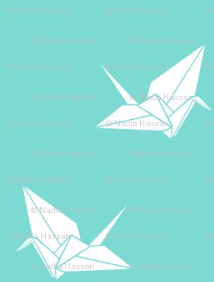 Folded Flock: Aqua