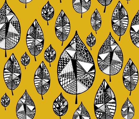 fall_leaves_7_2-07 fabric by oohoo on Spoonflower - custom fabric
