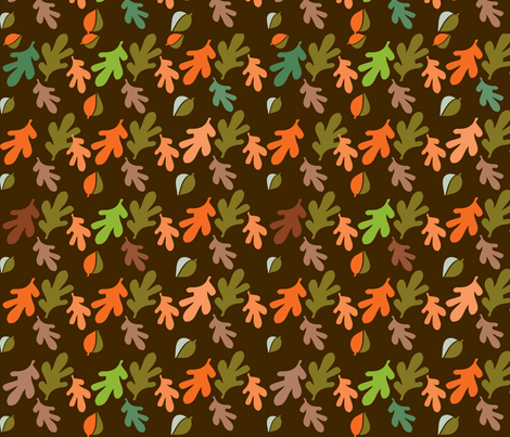 SOBLOO_LEAVES IN AUTUMN fabric by soobloo on Spoonflower - custom fabric