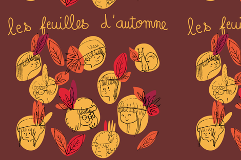 feuilles d'automne fabric by agathe_moreau on Spoonflower - custom fabric