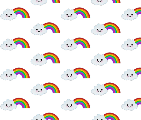 RAINBOW fabric by scorpiusblue on Spoonflower - custom fabric