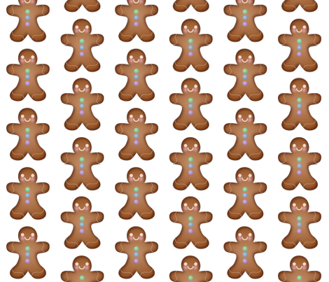 GINGERBREAD fabric by scorpiusblue on Spoonflower - custom fabric