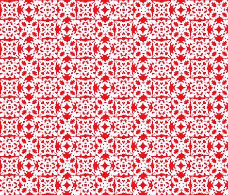mitten snowflake block fabric by idaho13 on Spoonflower - custom fabric