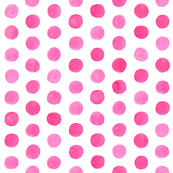 Watercolor Dots: Hot Pink