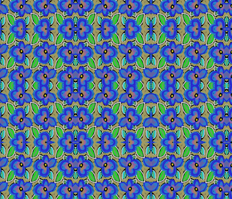 Violets are blue fabric by lifepatterns on Spoonflower - custom fabric