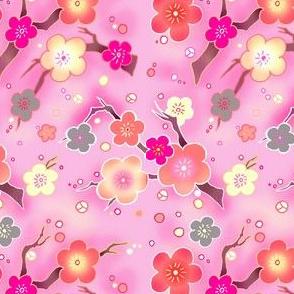 Cherry blossom warm pink