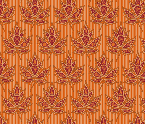 Autumn paisley maple fabric by stitchandyarn on Spoonflower - custom fabric