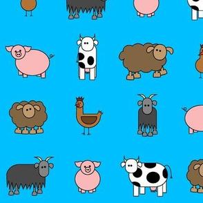 farm animals in the sky