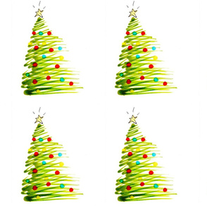 Christmas Tree Wrapping Paper by Brad Hines