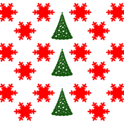 Christmas Trees and Snowflakes