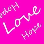 Hope Love Letters on Pink