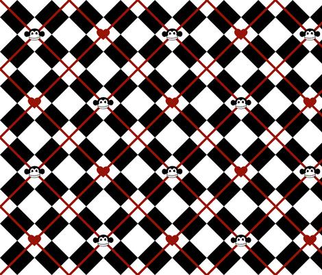 Macabre Argyle fabric by pumpkinbones on Spoonflower - custom fabric