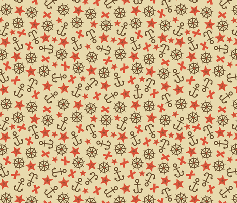 Anchors (beige) fabric by edward_elementary on Spoonflower - custom fabric