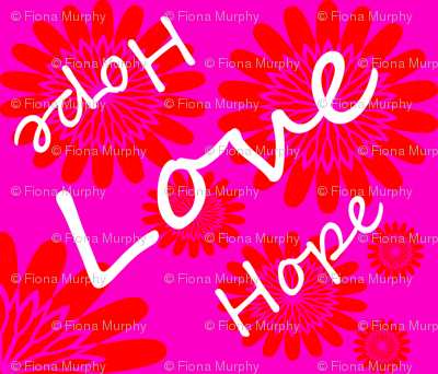 Love Hope in Hot Pink