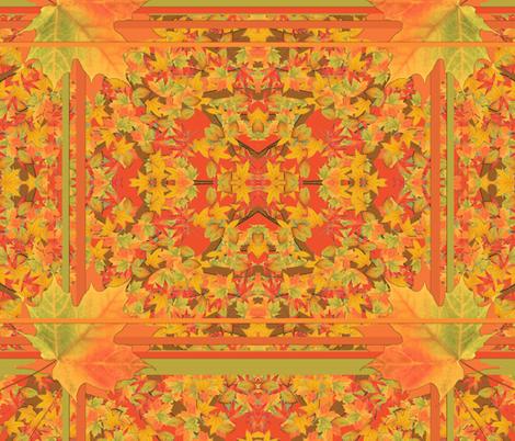 fall leaf fabric by sivad13 on Spoonflower - custom fabric