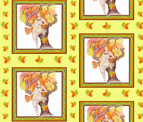 Autumn Leaves  fabric by bireaux on Spoonflower - custom fabric