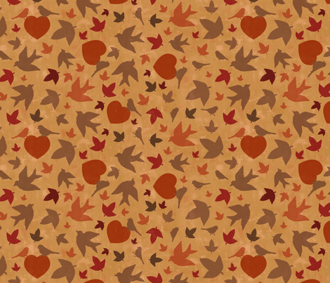 leaves fabric by lusykoror on Spoonflower - custom fabric