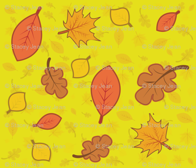 Fall Leaves - yellow