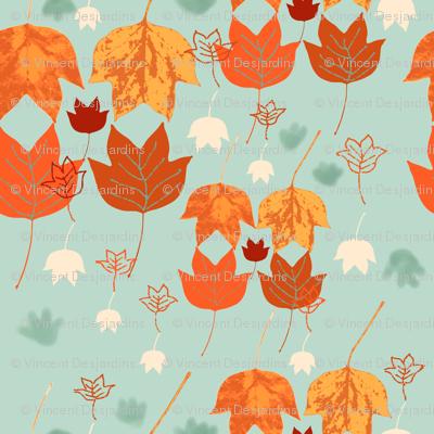Fall Tulip Tree Leaves