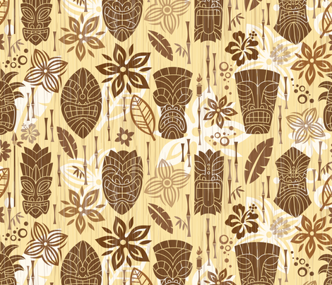 Tiki Lounge fabric by vonster on Spoonflower - custom fabric