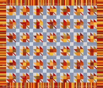 Maple block quilt