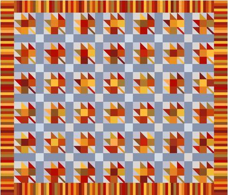 Maple block quilt fabric by loopy_canadian on Spoonflower - custom fabric