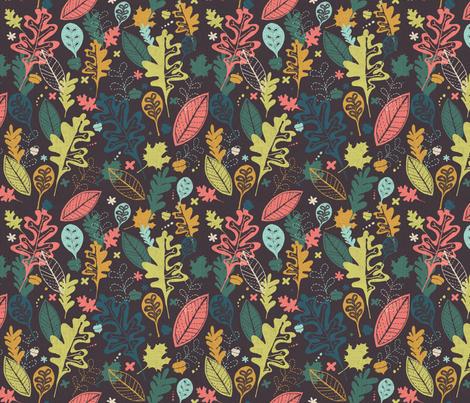 Treasures of Fall fabric by twoifbyseastudios on Spoonflower - custom fabric