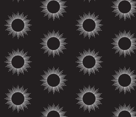 Eclipse black fabric by upstyle_design on Spoonflower - custom fabric