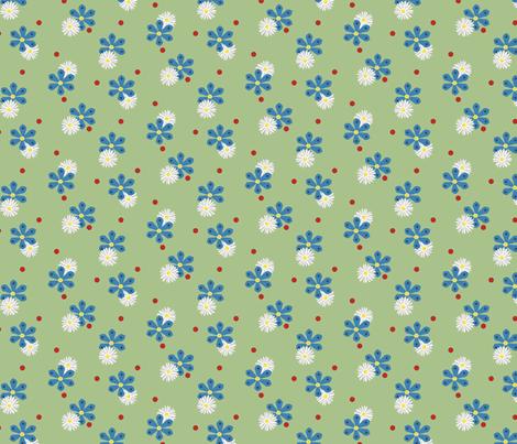 Cornflowers and Daisies fabric by alexaug on Spoonflower - custom fabric