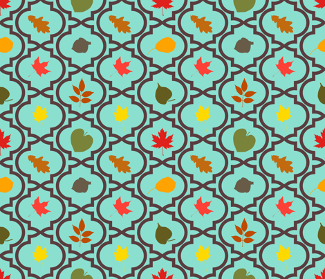 Quatrefoil Leaves fabric by mandasisco on Spoonflower - custom fabric