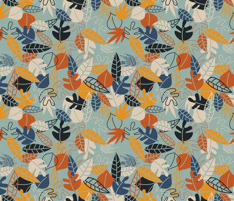 Make Like a Tree and Leaf fabric by meg56003 on Spoonflower - custom fabric