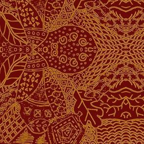 Fall Tangle - Golden Chocolate