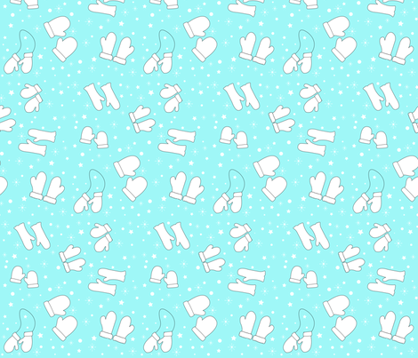 Mittens - 3 Color fabric by pumpkinbones on Spoonflower - custom fabric