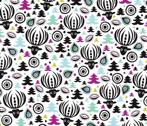 Holiday seasonal winter deer for christmas fabric by littlesmilemakers on Spoonflower - custom fabric