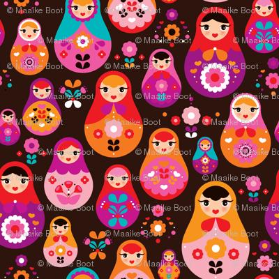 matryoshka russian doll kids pattern MEDIUM