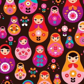 matryoshka russian doll kids pattern MEDIUM