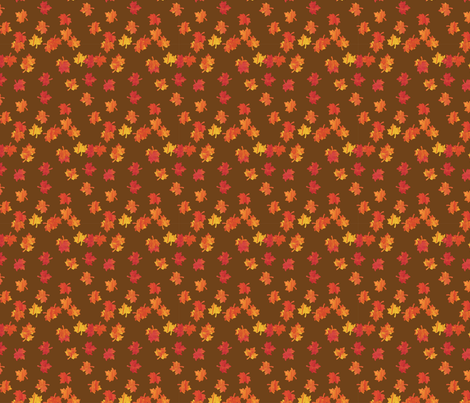 autumn_leaves_fabric fabric by s135 on Spoonflower - custom fabric