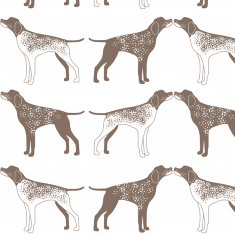 German Shorthaired Pointers fabric by samdraws on Spoonflower - custom fabric