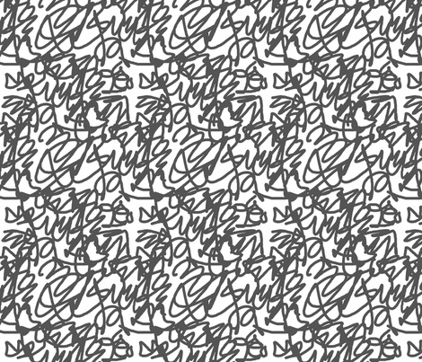 scribble grey fabric by jenr8 on Spoonflower - custom fabric