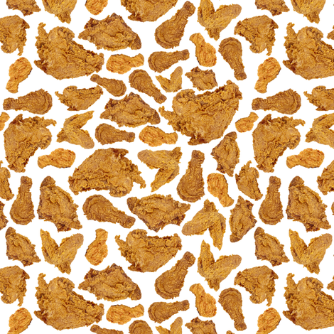 Fried Chicken fabric by sufficiency on Spoonflower - custom fabric